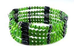 Wholesale Hematite Magnetic Wrap Bracelet - Wholesale-Free Shipping Rainso Promotion Wholesale Magnetic Hematite Bracelet Jewelry Long Wraps OHL-002G 5pcs lot