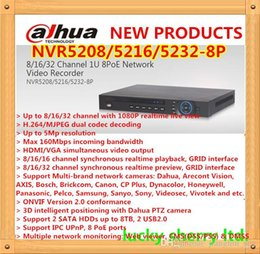 Wholesale 16 Channel Network Video Recorder - DAHUA Professional NVR 8 16 32 Channel 1U 8PoE Network Video Recorder NVR5208 5216 5232-8P with Onvif NVR