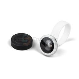 Wholesale Degree Fish Eye Lens - Wholesale-New 180 Degree Fish Eye Circle Coversion Clip Camera Lens For HTC iPhone 5S 5C Samsung Galaxy S4 S5 S6 Cellphone Tablet