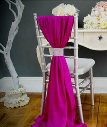 Wholesale Cheap Purple Blue Decorations - Hottest Chiffon Wedding Party Anniversary Chair Sash Party Banquet Decorations 50 Pieces  Set Wedding Chair Sash Custom Made Cheap 2015