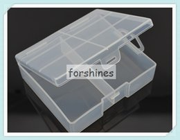 Wholesale Discount Storage Boxes - 50pcs,promotion,discount,stock,fast deliver,epacket,China factory,Hard Plastic Case Holder Storage Box cases For AA Battery High Quality,