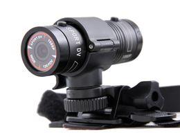 Wholesale Outdoor Car Camera - New Aluminum Mini F9 5MP HD 1080P H.264 Waterproof Sports DV Camera Camcorder Car DVR Outdoor Bike Helmet AT-F9 D1226