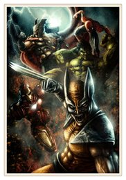 Wholesale Framed Comic - Comics Marvel, Home Decor HD Printed Modern Art Painting on Canvas 12x18 inch   8x12 inch Unframed Framed