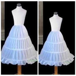 Wholesale Cheap Slips For Girls - High Quality 3 Hoops Cascading Ruffles Petticoats A-Line Underskirt For Girls Kids Underskirt Slip Wedding Formal Wear Accessories Cheap