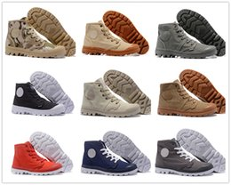 Wholesale Palladium Shoes Men - 2017 New Arrival Brand Palladium canvas Style Mens women High Top Shoes New Homme city boy Outdoor Comfortable Ankle Casual Boots Cheap