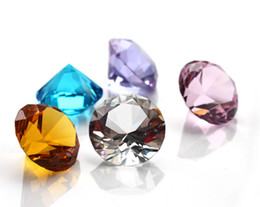 Wholesale Paperweights Gifts - Wholesale- Hot! paperweight Multi Color Crystal Diamond Fashion wedidng Decoration supplies 50mm fashion valentine gift