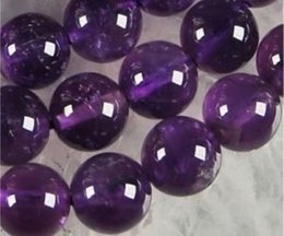Wholesale Amethyst Loose Beads - 4mm,6mm,8mm,10mm Beautiful Russican Amethyst Gemstone Round Loose Beads 15inch