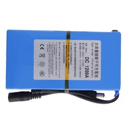Wholesale 12v Battery Lithium - 9800mAh Lithium-ion Super Rechargeable Battery +Power Charger EU Plug 2016 new hot