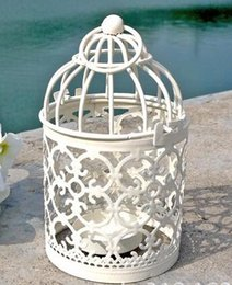 Wholesale Bird Wall - New Arrive Bird Cage Decoration Candle Holders Bird Cage Wedding Candlestick
