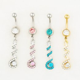 Wholesale Mix Body Jewelry Acrylic - D0554-1 body jewelry Nice style Navel Belly ring 10 pcs mix colors stone drop shipping factory price