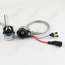 Wholesale D2c Hid - D2S D2C D2R D4S Metal Adapters Kit HID Xenon Ballast Conversion Bulbs Aftermarket Converter Connector Extension Wiring Harness Plug Cables