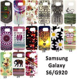 Wholesale Elephant Frame - S6 Tpu case For Samsung S6 G9200 Flower Owl Elephant Tribe Anchor Light Transparent clear Bumper Frame cover Shell soft lovely Animal Design