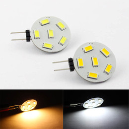 Wholesale 24v Led Dimmable - High quality led g4 dimmable bulb AC DC10-30V with 6pcs SMD5730 high brightness car bulb and boat lamp