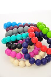 Wholesale Indian Beads Jewellery - Silicone Teething Bracelet Jewellery Silicone Beads