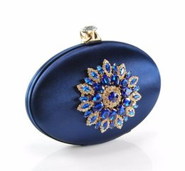 Wholesale Crystal Flower Clutch Purse - Top Quality Wedding Clutch Bag Ladies Evening Bags Diamond Women Handbags Flower Shape Crystal Clutches Party Wallet Purse