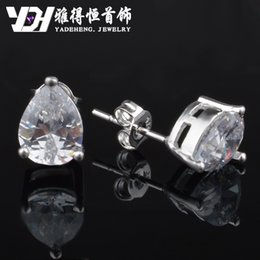 Wholesale Cheap Diamond Shaped Earrings - The explosion of the pear shaped earrings wholesale 925 Silver Star with a factory direct wholesale cheap diamonds