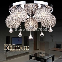 Wholesale Home Decoration Lighting Items - Wholesale-Free shipping NEW item crystal ceiling light lustre home decoration crystal lighting Dia55*H30cm lamparas de techo lamps