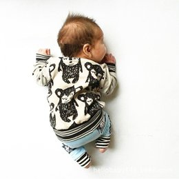 Wholesale Toddler Monkey Clothes - Wholesale-2015 Autumn INS Baby T-shirt Toddler Tops Boy's Girl's Clothing Long Sleeves Tee Print Monkey 12M-4Y