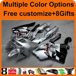 Wholesale Kawasaki Zx6r Fairing 1995 - 23colors+8Gifts SILVER motorcycle cowl for Kawasaki ZX-6R 1994-1997 1994 1995 1996 1997 ZX 6R 94 95 96 97 ABS Plastic Fairing