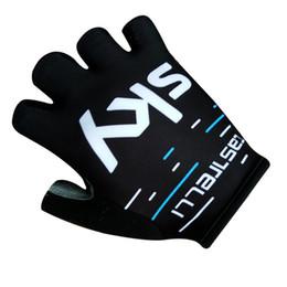 Wholesale Gants Glove - Veobike 2017 team sky Cycling Gloves Bike Sport Gloves Guantes Ciclismo GEL pad Shockproof Gants Half Finger Bicycle gloves G181