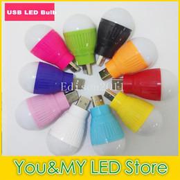 Wholesale Search Light 12v - USB LED Bulb Light Newest Portable Mini Lamp For Computer Laptop PC Desk Night Reading Searching Hiking Free DHL Wholesale