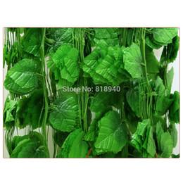 Wholesale Grape Leaves - 12 X Big Decorative Fake Grape Leaves Artificial Foliage Vine Garland Decor Green