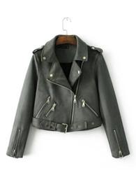 Wholesale Matches Leather Jackets - Wholesale- OLGITUM Jacket 2017 New Women Fashion Personality Cashmere Leather Jacket All-match Composite Coat