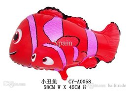 helium nemo prices - Free shipping 30pcs lots wholesales Nemo mylar balloon , Clown fish helium balloon ,for kids Party decorate
