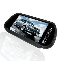 "Wholesale Mirror Lcd Touch Screen - 7"" inch Wide Touch Screen TFT LCD Car Dvr Rearview Camera 2-CH Video Input Car Rearview Color Mirror Monitor"