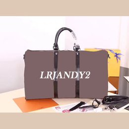Wholesale Vintage Leather Duffle - Top quality Men Travel Bag Women Duffle Bags Luggage cowhide oxidize leather vintage keep ALL size 60cm Handbags with lock and key