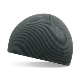 Wholesale Wholesale Ribbed Knit Beanies - Wester Trendy Skull Caps High Flexibility Slim Ribbed Knit Hats Hip-Hop Fashion Small Beanie Acrylic Cap 6 Colors 20pcs