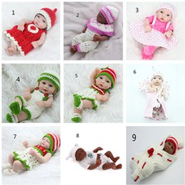 Wholesale Presents Baby - Fashion Christmas Presents Children Dolls Simulation Reborn Baby Dolly Gift Girls Cute Reborn Toys Kids Playmate Silicone 28 cm
