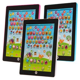 Wholesale Ipad Notebooks - Electronic Childrens Tablet Computer Ipad Kids Educational Play Read Game Toy Tablet Computer Ipad machine hot
