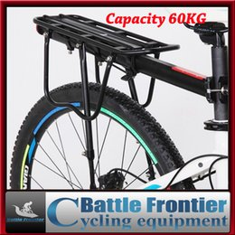 Wholesale Bike Roof Rack - 60kg capacity bike luggage carrier bicycle rear rack cycling stander seatpost rack back shelves with flanks wings for journey