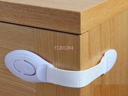 Wholesale Kids Safe Drawer Lock - Free Shipping Baby Kids Box Drawer Cupboard Cabinet Wardrobe Door Fridge Safe Safety Lock Multi- function Kid Care 200pcs lot