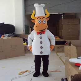 Wholesale Christmas Party Outfit Characters - Brand New Cattle Mascot Costume Cow Adult Size Fancy Dress Christmas Suit Party Outfit Cartoon Character Clothing