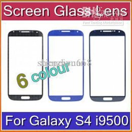 Wholesale S4 Oem Glass - DHL 50Pcs High Quality OEM Front Outer Screen Glass Lens Replacement White And Black For Samsung Galaxy S4 I9500 Free Shipping SHA-D