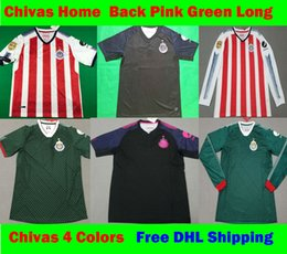 Wholesale Chivas Soccer - S-XXL 2017 2018 MX Chivas de Guadalajara PINK Soccer Jerseys 17 18 Club Deportivo third Away green BLack Football Shirt Free DHL Ship