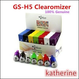 Wholesale New H5 - GS-H5 Atomizer New GS H5 Cartomizer No Wick Replace CE4S for E cig E Cigarette Electronic Cigarette Kits for Ego t for all Ego Mixed Order