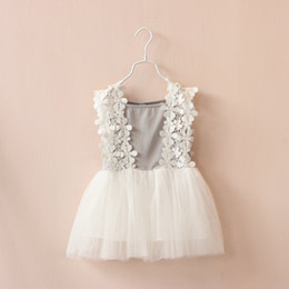 Wholesale Gauze Suspenders Dress - summer baby girl pricess dress lace flower gauze dress baby suspenders princess dress tulle baby dresses free shipping