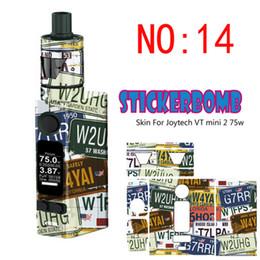 Wholesale E Cig Stickers - Joyetech Evic VTC Mini 2 75W Sticker Wraps various e cig Stickers Skin for Evic VT MINi V2 box mod prevent Scratch label