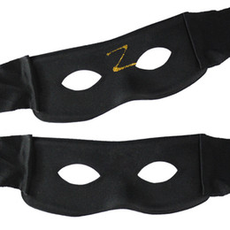 Wholesale Black Mask Zorro - Zorro Cool Black Hip-hop Mask Half Face Masquerade Party Mask Festival Gifts Halloween Cosplay Performance Props Christmas Supplies 50pcs