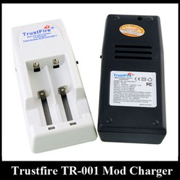 Wholesale trustfire chargers - Top Quality Trustfire Battery Charger TR-001 Mod Charger fit 18650 18500 18350 17670 14500 10440 Lithium Battery E Cigarette Battery Charger