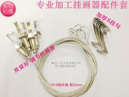 Wholesale Cheap Ticking - Wholesale-Cheap pure hand-made paintings exhibition ticked stainless steel wire rope accessories adjustable picture hooks Hanging hooks