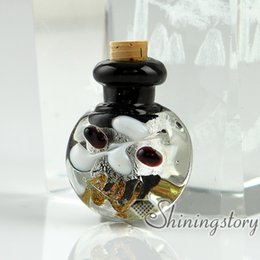 Wholesale Glass Necklace Vials - small glass bottles for pendant necklaces empty vial necklaceminiature glass jars