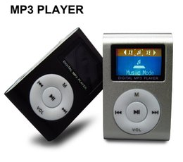Wholesale Free Mp3 Mini Player - Free Shipping Mini MP3 Player with LCD Screen with TF (Micro SD) Card Slot - Metal Clip Sport MP3 Players Hot Sell Now!