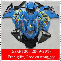 Wholesale Rizla K9 - Dark Blue Rizla Fairings Of Suzuki 2009 2010 2011 2012 2013 GSXR1000 GSX-R1000 GSXR 1000 09 10 11 12 13 K9 Motorcycle Body Kit Free Gifts