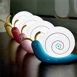 UK usb desk led - LED creative cartoon desk lamp,night lamp, wall lamp USB rechargeable snail light differents body color
