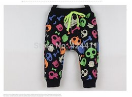 Wholesale Skull Harem Pants Baby - Wholesale-New Arrival 2015 Winter Baby Warm Pants Toddler Harem Pants Thickening Velet Cartoon Skull Printed Casual Trousers 66cm-90cm