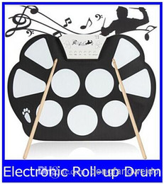 Wholesale Musical Instruments Electronic Drums - W758 Digital Portable 9 Pad Musical Instrument Electronic Roll-up Drum Kit new top sale free shipping